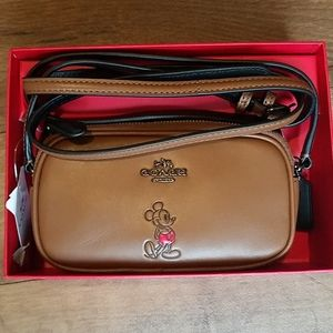 Disney x Coach Mickey Mouse Crossbody Pouch Boxed